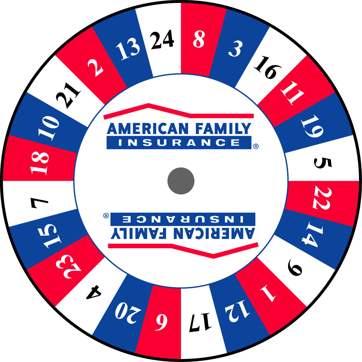 Custom Prize Wheels like this American Family Prize Wheel
