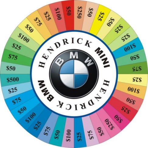 Custom Prize Wheels like this Hendrick BMW Prize Wheel