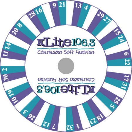 Custom Prize Wheels like this K-Lite Prize Wheel