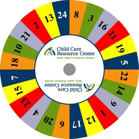 Custom Prize Wheels like this Child Care Prize Wheel